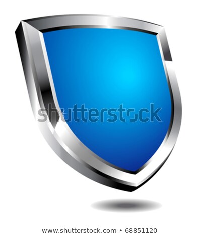 Silver Secure Shield, Spam and antivirus protection Stock photo © fenton