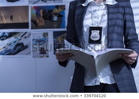 警察 探偵 黒 アフリカ系アメリカ人 男 仕事 ストックフォト © piedmontphoto