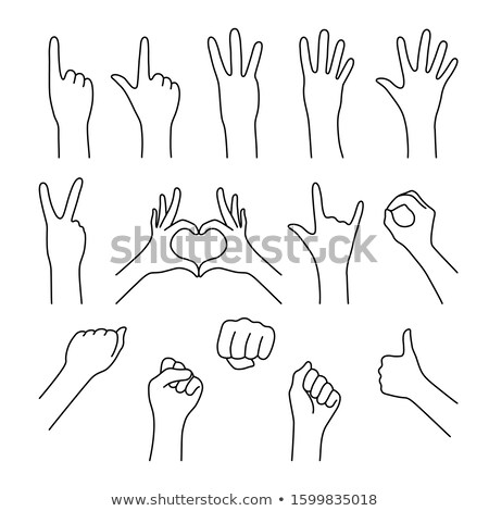 hand holding up the number four from the right Stock photo © stryjek