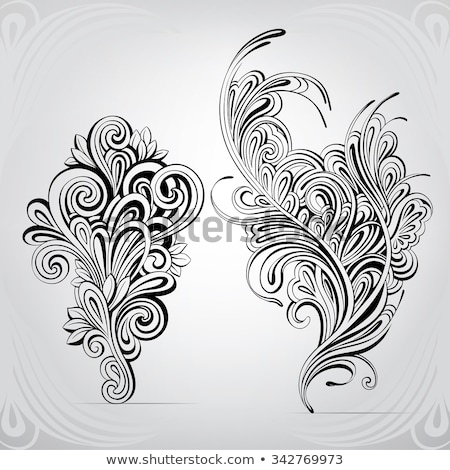 abstract scroll tattoo symbol stock photo © creative_stock