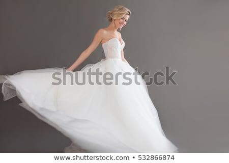 Gracioso mulher jovem vestido de noiva isolado casamento sensual Foto stock © acidgrey