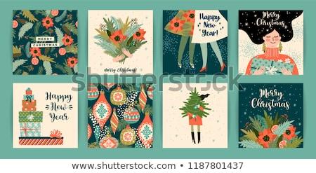 聖誕節 · 節日 · 女子 · 吹 · 雪 · 新年 - 商業照片 © photosebia