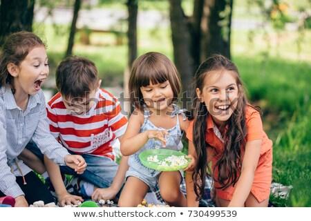 Children having a snack Stock photo © photography33