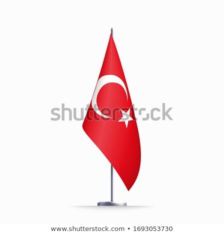 3D bandiera Turchia icone san valentino Foto d'archivio © Vectorminator