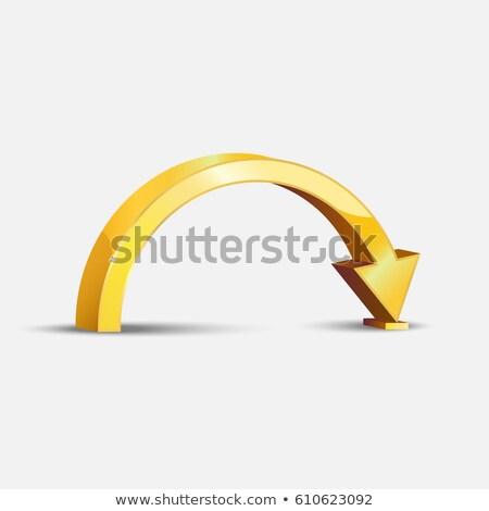 golden bent arrow   download icon stock photo © tuulijumala