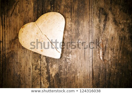 kalp · kek · rustik · ahşap · alışveriş - stok fotoğraf © justinb
