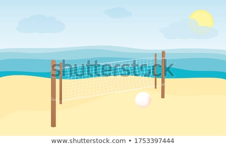 Plage volley balle net île Malaisie Photo stock © Ronen