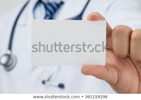 азиатских · медицинской · визитной · карточкой · юго-восток · мужской · доктор - Сток-фото © szefei