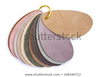 Deri örnek renkler kış doku Stok fotoğraf © simas2