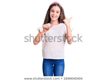 thumbs up pointing stock photo © godfer