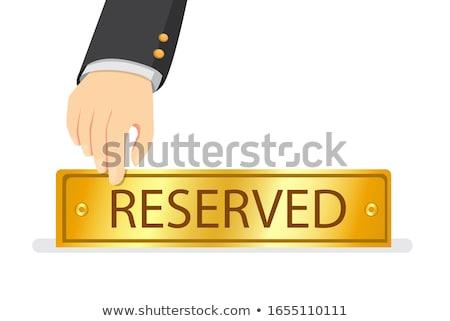 Rezervasyon kart ikon grup insanlar parti restoran Stok fotoğraf © vipervxw