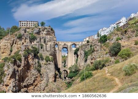 新しい · 橋 · スペイン語 · 18世紀 · アンダルシア · スペイン - ストックフォト © capturelight