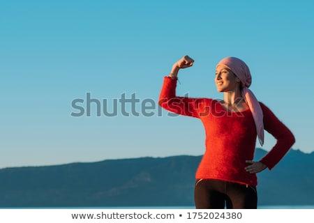 kadın · eşarp · açık · havada · portre · ağaç - stok fotoğraf © Lessa_Dar