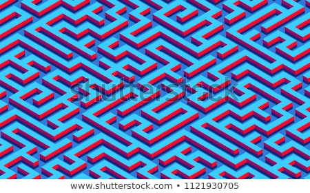 Abstract puzzle background decor element vector illustration Stock photo © krabata