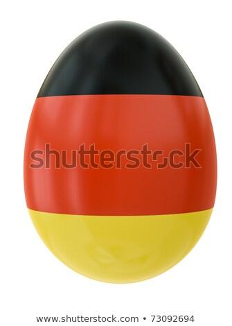 Banderą easter egg pasiasty rysunek wakacje Wielkanoc Zdjęcia stock © marinini