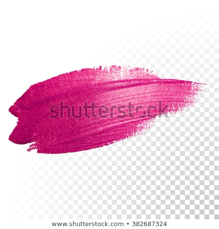 Paintbrush with glossy red paint splash Stock photo © Lightsource