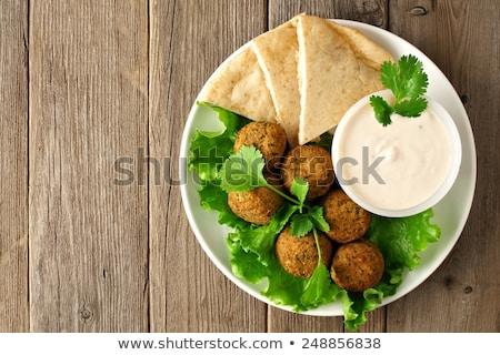 pita bread with falafel and sauce Stock photo © M-studio