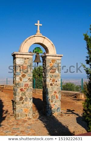 Ortodox kolostor Ciprus falu fal Jézus Stock fotó © mahout