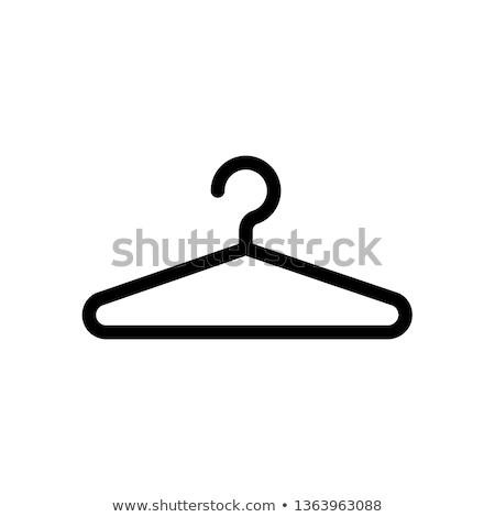 Icon garderobe winkel kleding store opslag Stockfoto © zzve