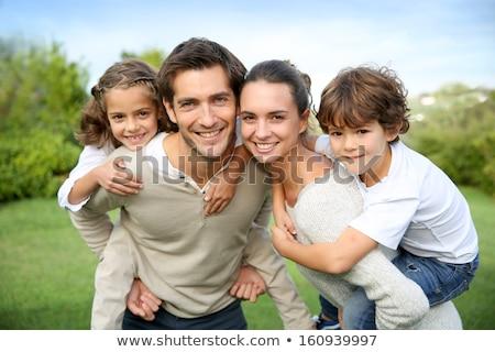 fiatal · szülők · játék · fiú · apa · felfelé - stock fotó © paha_l