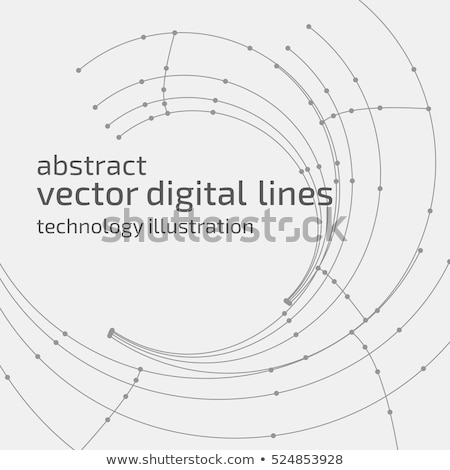 3d black and white abstract mesh background with circles lines and shapes stock photo © hunthomas