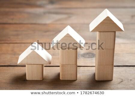 hout · speelgoed · huizen · onderwijs · Blauw · Rood - stockfoto © Paha_L