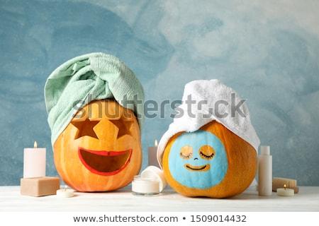 幸せ · ハロウィン · 女性 · 衣装 · 女性の笑顔 · 手 - ストックフォト © keeweeboy