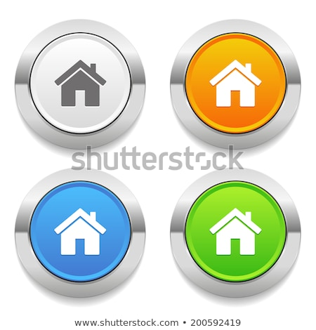 abstract blue glossy home button Stock photo © rioillustrator