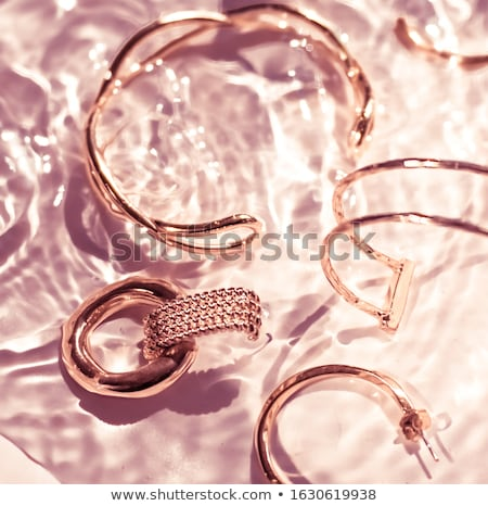 of a pink background with jewels for invitation Stock photo © yurkina