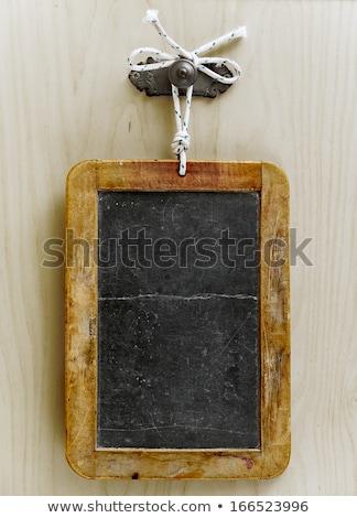 меню доске каменные колонки текстуры Сток-фото © Photooiasson