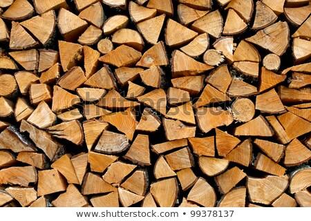cortar · lenha · padrão · natureza · casa - foto stock © lunamarina