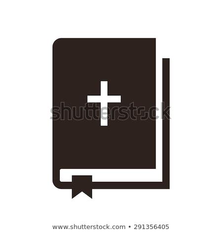 vektör · ikon · İncil · çapraz - stok fotoğraf © zzve