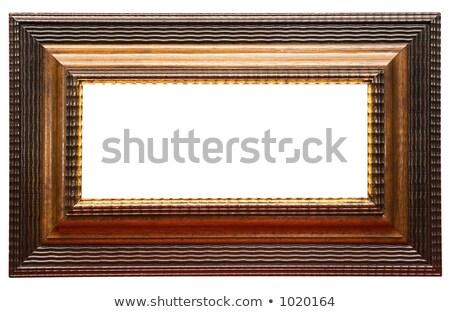 széles · barna · képkeret · út · fából · készült · üres - stock fotó © winterling