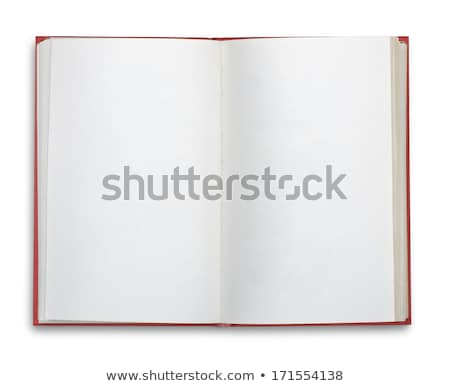 Red hardcover book about art Stock photo © gavran333