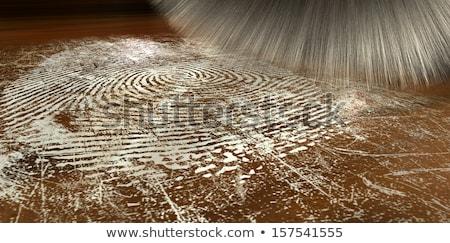 Dusting For Fingerprints On Wood Stock photo © albund