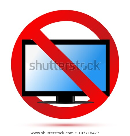 No Television Sign Illustration Design Over White Photo stock © alexmillos