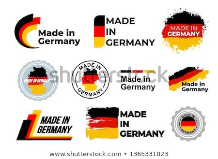 Ayarlamak düğmeler Almanya parlak renkli Stok fotoğraf © flogel