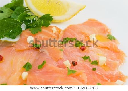 hal · saláta · szelektív · fókusz · levél · zöld · vacsora - stock fotó © doupix