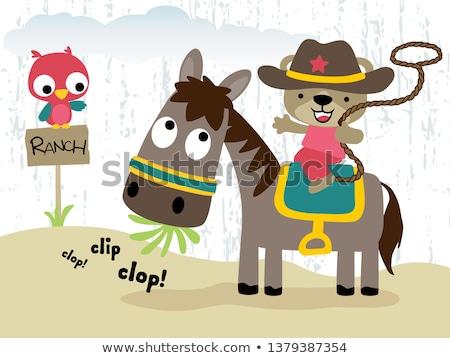 Peu Cowboy garçon balle pansement Photo stock © jorgenmac