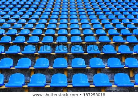 blue stadium seats stock photo © hofmeester