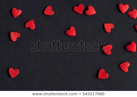 sötét · vörös · rózsák · nyak · pezsgő · valentin · nap · kettő - stock fotó © neirfy