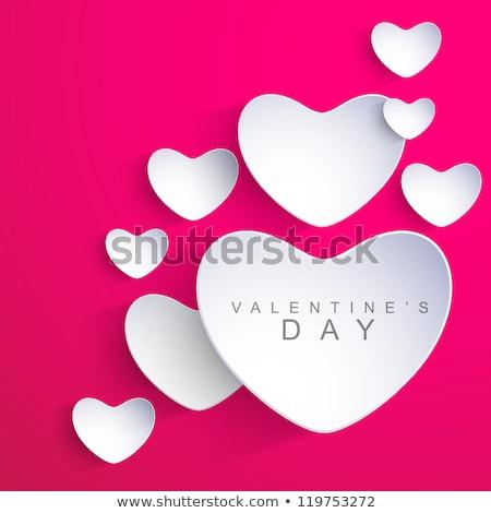 Happy Valentines Day Sticky Note Stock photo © ivelin