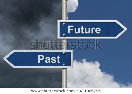 Heldere toekomst donkere verleden briljant licht Stockfoto © 3mc