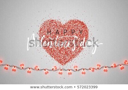 Valentin nap szívek színes üdvözlőlap esküvői meghívó vektor Stock fotó © bharat