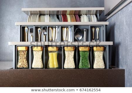 augurken · markt · groene · knoflook · vruchten - stockfoto © c-foto