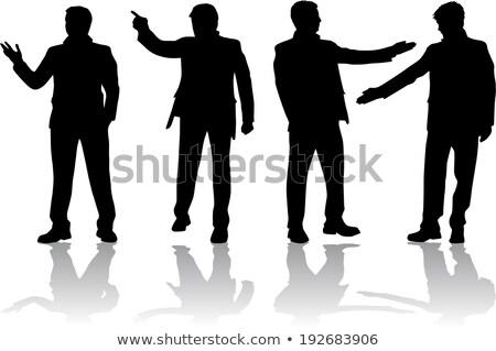 shadow of gesturing man Stock photo © meinzahn