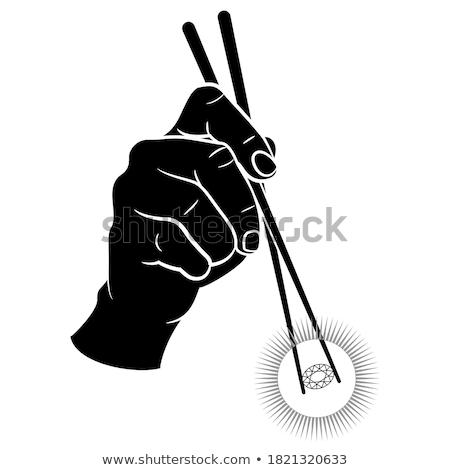 палочки для еды Diamond черный белый Сток-фото © RedDaxLuma