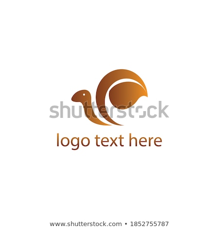 Abstract drawing of a cute snail with green leaves- logo concept  Stock photo © shawlinmohd