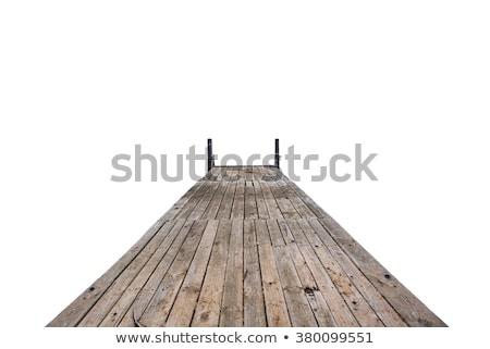 Oude rot brug straat oceaan tropische Stockfoto © meinzahn