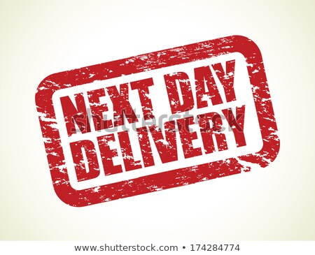 next day delivery on red rubber stamp stock photo © tashatuvango